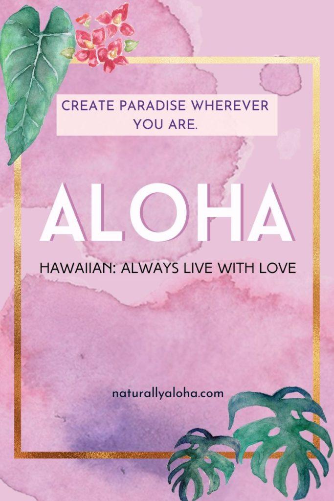 Mature aloha